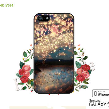 Disney, rapunzel Phone case iPhone 5/5S/5C Case, iPhone 4/4S Case,  Sky lantern, S3 S4 S5 Note 2 Note 3 Case for iPhone-B084