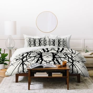 Holli Zollinger Tree Silhouette Black Duvet Cover