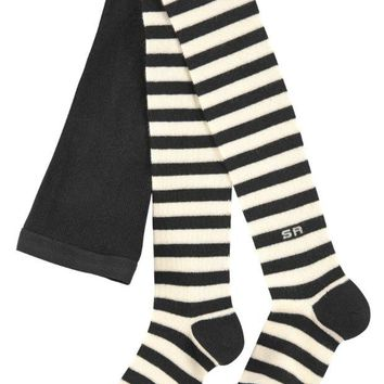 NOV9O2 Sonia Rykiel Girls Striped Tights