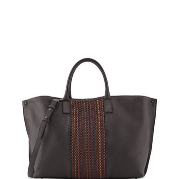 Akris Ai Medium Woven Top Handle Bag, Multi