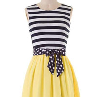 Sweet Stripes Dress - Yellow
