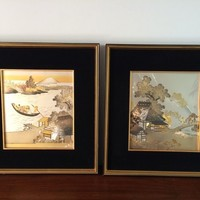 Pair of Japanese Carved Metal Art | Art | Gumtree Australia Melville Area - Bull Creek | 1063298969