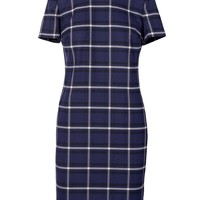 Windowpane Plaid Shift Dress | Banana Republic