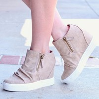 Not Rated: Blush Arabelle Hidden Wedge Sneakers