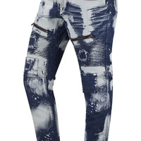 New Men Paint Splattered Premium Denim Jeans Slim Fit