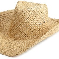Hurley Men's Great Plains Straw Hat, Natural, One Size