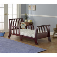 Orbelle Contemporary Solid Wood Toddler Bed - Cherry