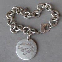 Vintage Return to Tiffany & Co. Sterling Silver Charm Bracelet & Earrings Set