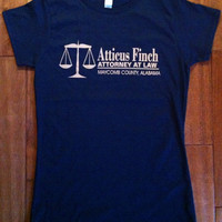 Atticus Finch Attorney at Law T-Shirt - To Kill a Mockingbird by Harper Lee TKaM Gift English Teacher Classic American Literature Men Women
