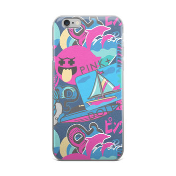 Pink Dolphin iPhone 4 4s 5 5s 5C 6 6s 6 Plus 6s Plus 7 & 7 Plus Case