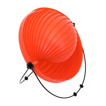 Shell Table Lamp Red