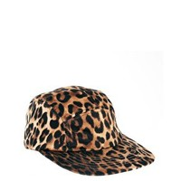 ASOS 5 Panel Cap in Leopard Print at asos.com