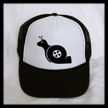 Turbo Snail Trucker Hat - Adjustable Cap Mesh Snapback VW JDM Subaru Boost FI