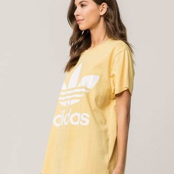 ADIDAS Big Trefoil Womens Yellow Tee