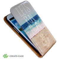 """Artist Designed - Samsung Galaxy s3 flip case / cover - High quality colorful & unique leather style flip case - """"Let's Run Away"""""""