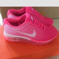 'NIKE' Trending Fashion Casual Sports Shoes Air section pink white
