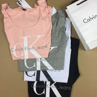 Calvin Klein Fashion V-Neck Sport Running Vest Tank Top