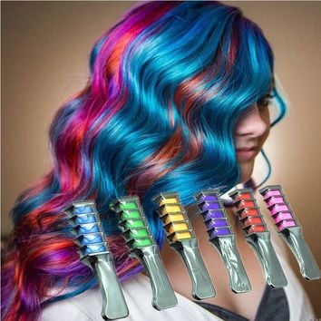 Fashion Design  Temporary Hair Color Dye  -  Chalk With Comb
