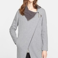 Women's Fabiana Filippi Asymmetrical Zip Cotton Fleece Jacket ,