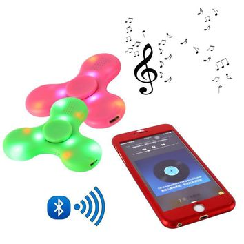 Fidget Spinner LED Bluetooth Speaker EDC ABS Bearing Bluetooth For Autism ADHD Anxiety Stress