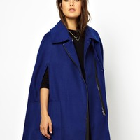 ASOS Biker Cape Coat