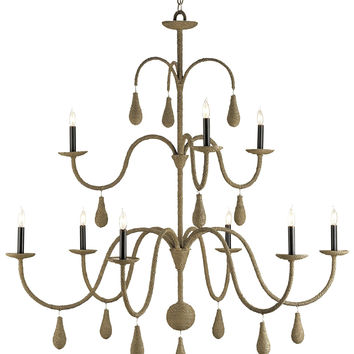 Currey Company Bayside Chandelier, Large