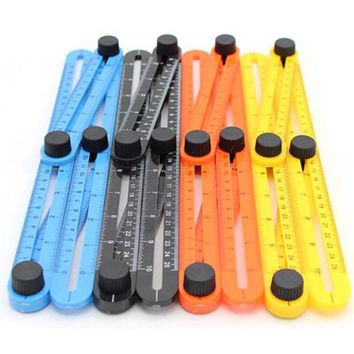 DCCK7N3 Multi-Angle Ruler Template Tool Measures All Angles Forms for Measurement Outdoor Tools Flexible Easy Tool PP0