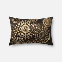 Loloi Brown / Gold Decorative Throw Pillow (P0441)