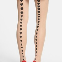 Women's Pretty Polly Heart Detail Back Seam Tights