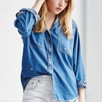 LA.EDIT Vintage Destructed Denim Shirt at PacSun.com