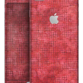 Red Watercolor Polka Dots - Skin-kit for the iPhone 8 or 8 Plus