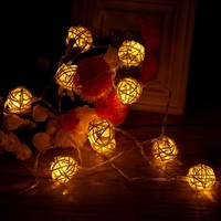 10LED Christmas Light Indoor String Light Rattan Ball Lights Wedding Birthday Party Christmas Decorations For Home