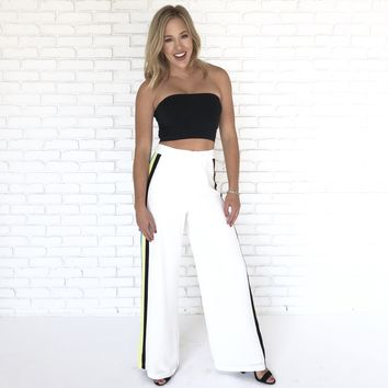 Up For A Good Time White Stripe Pants