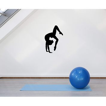 Vinyl Wall Decal Gym Yoga Girl Sport Gymnastics Home Decor Interior Wall Decal (g005)