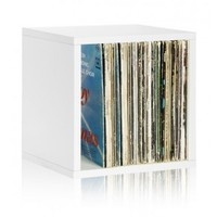 White Vinyl Record Storage | Stackable Storage Cubes | Way Basics