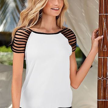 Strap Shoulder T Shirt