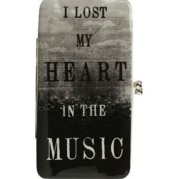 Lost My Heart In Music Kisslock Hinge Wallet