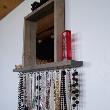 Necklace Hanger With Shelf And Mirror