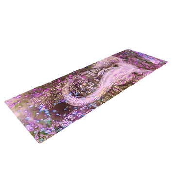 "Marianna Tankelevich ""Pink Dust Magic"" Elephant Sparkle Yoga Mat"