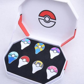 GO Pokeball Pins Badges 7pcs Set Of BoxKawaii Pokemon go  AT_89_9