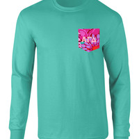 Alpha Gamma Delta Long Sleeve Pocket Tee