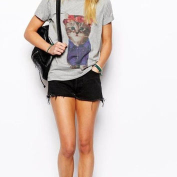 New Hot Fashion Womens Casual Blouse Short Foever21 Like Sleeve Shirt T shirt Summer Blouse Tops = 4721872324