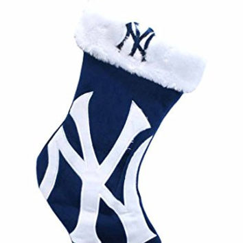 MLB New York Yankees Double-Check Logo Stocking - Navy Blue