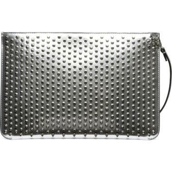 Christian Louboutin Loubiclutch Spiked Leather Clutch | Nordstrom