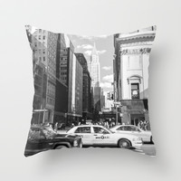 New York, New York Throw Pillow by KARNATARKA