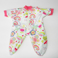 Clothes Valentine's Day Butterfly Pajamas Sleeper Handmade For Bitty Baby Doll