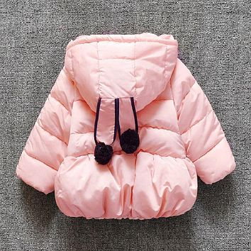 Girl's thick-cotton jacket winter coat of baby boy's clothes for 5-6 months 1726353320