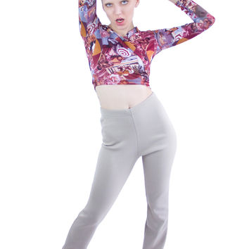 Romeo Printed Nylon Wrap Top
