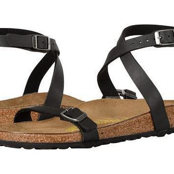 Beauty Ticks Birkenstock Daloa Sandals Flip Flops Black