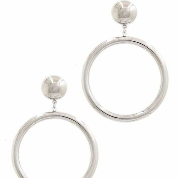 Fashion Hoop Drop Earring